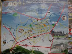 แผนที่สถานที่ต่าง ๆ ในเขตเมืองลำปาง