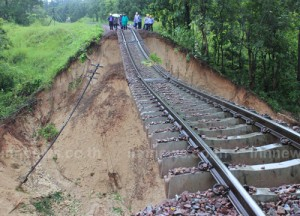 ทางรถไฟขาด ที่เมืองปาน